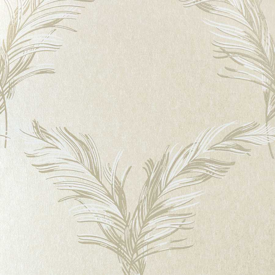 Anna French Watermark Plumes AT7923 Pearl Wallpaper