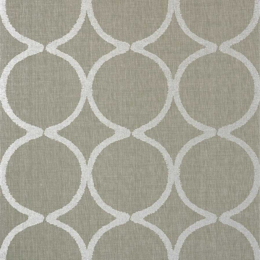 Anna French Watermark Watercourse AT7947 Metallic Silver on Taupe Wallpaper