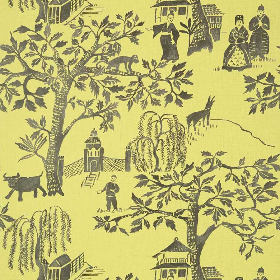 Anna French Watermark Willow Wood AT7914 Citron Wallpaper