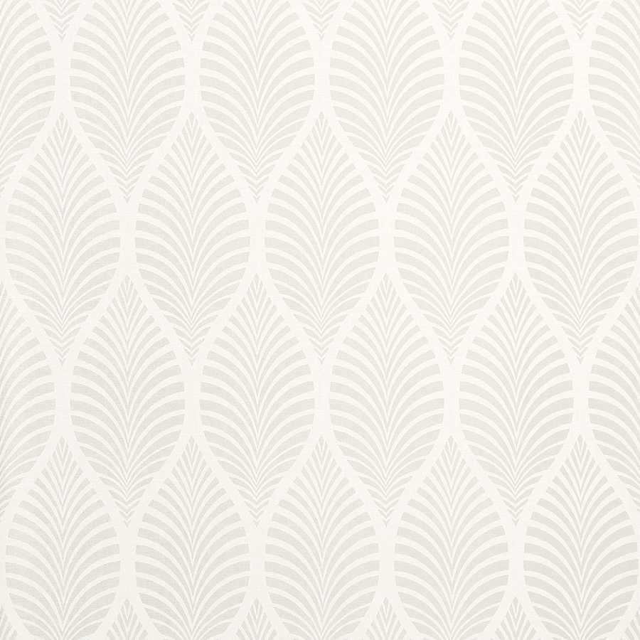 Anna French Zola Deilen AT34144 Pearl on White Wallpaper