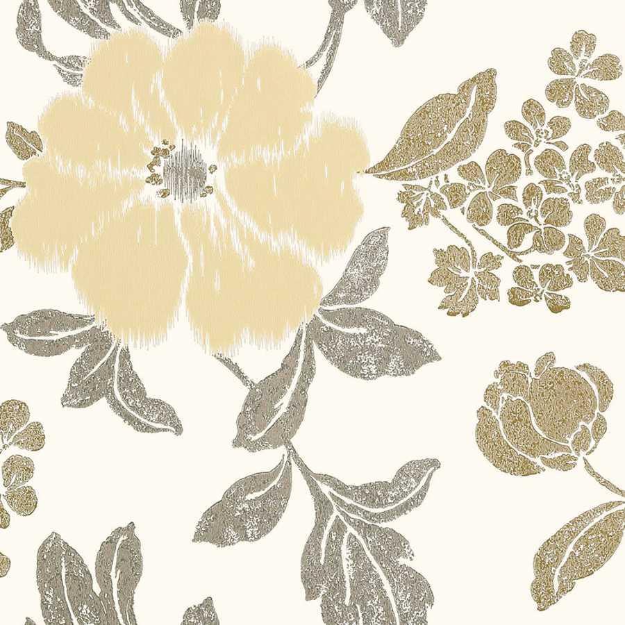 Anna French Zola Rue De Seine AT34138 Neutral on White Wallpaper