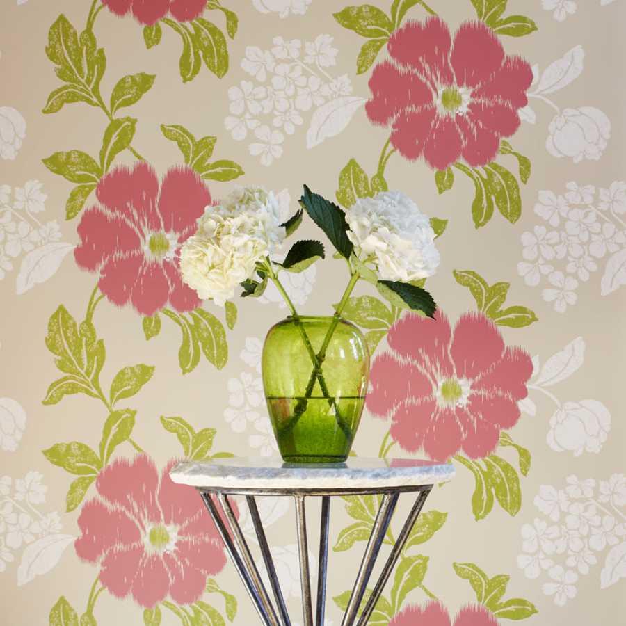 Anna French Zola Rue De Seine AT34139 Pink on Beige Wallpaper