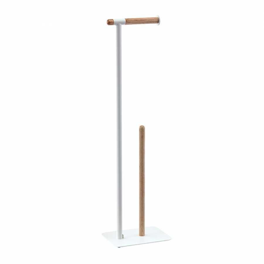Aquanova Oscar Toilet Roll Holder & Storage - White