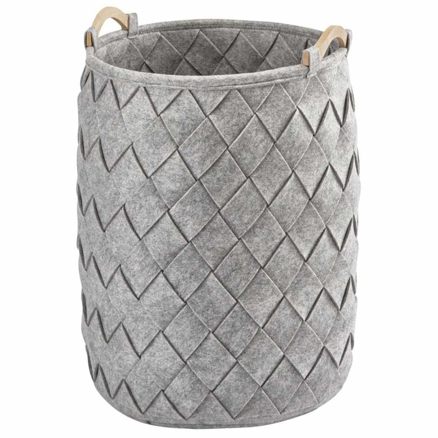 Aquanova Amy Laundry Basket - Silver Grey