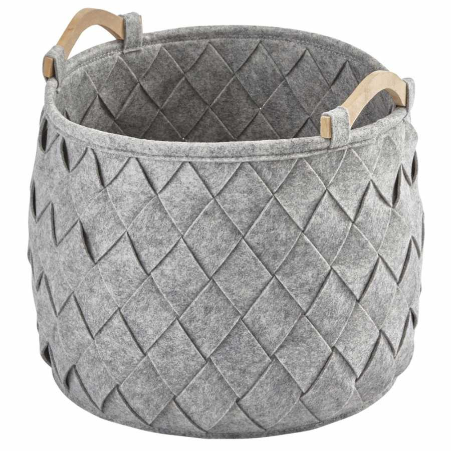 Aquanova Amy Storage Basket - Large - Silver Grey