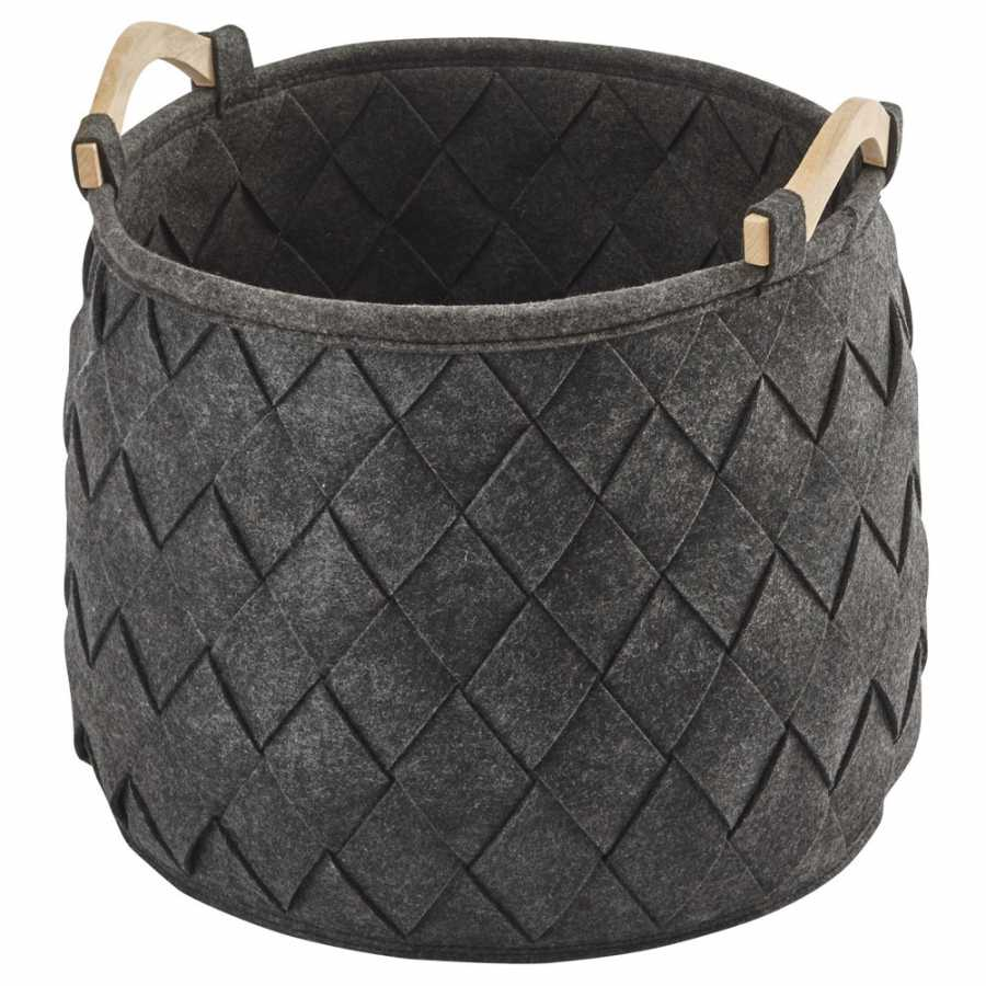 Aquanova Amy Storage Basket - Large - Dark Grey
