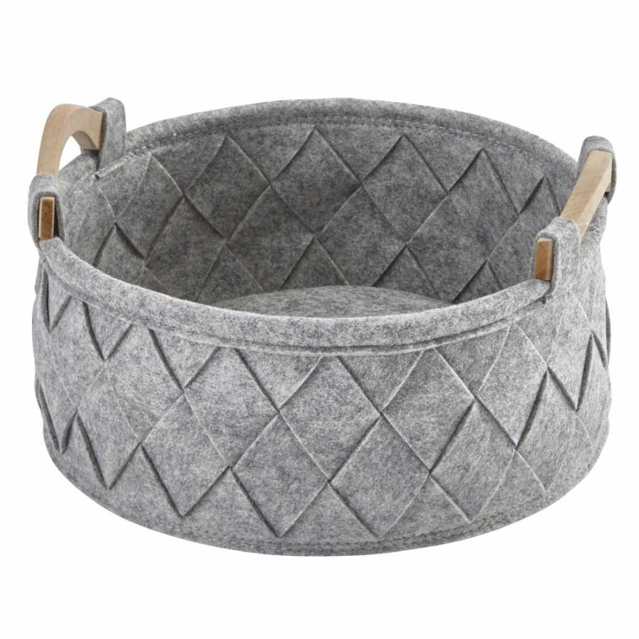 Aquanova Amy Storage Basket - Small - Silver Grey