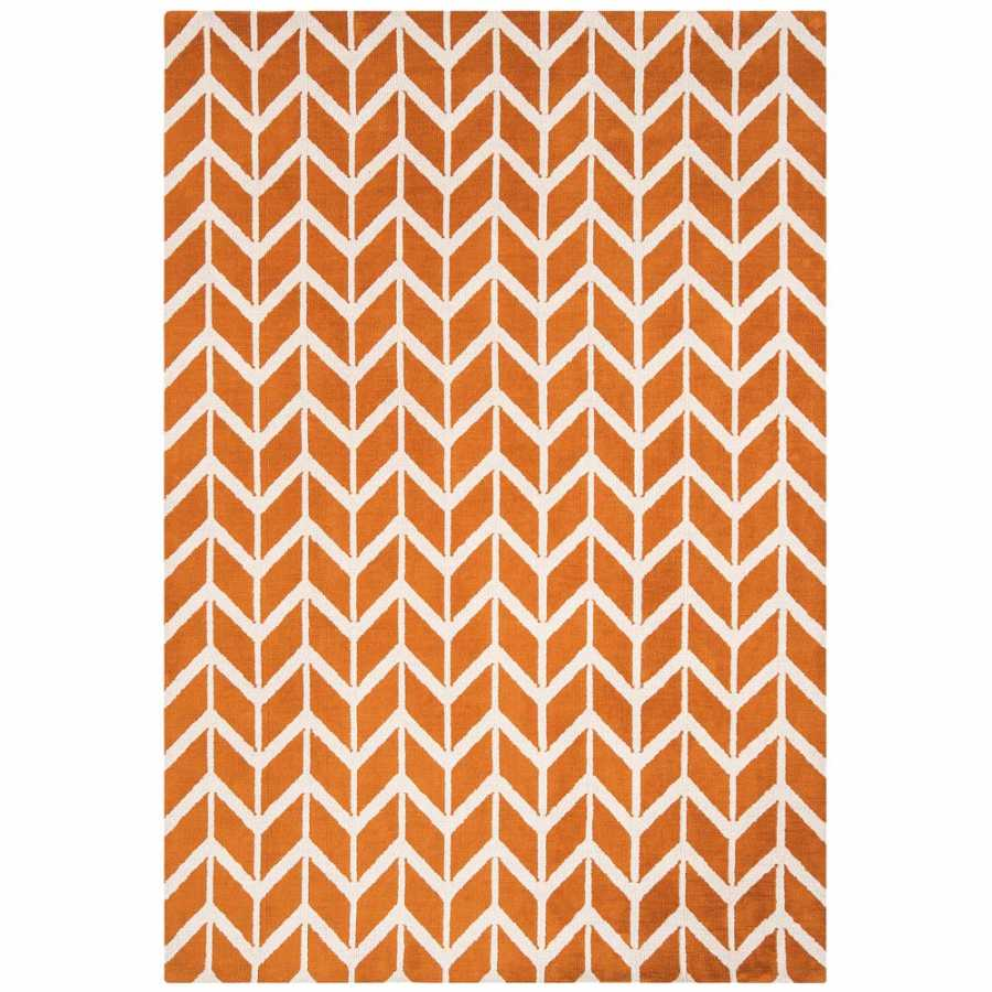 Asiatic London Arlo Chevron Rug - AR-07 Orange