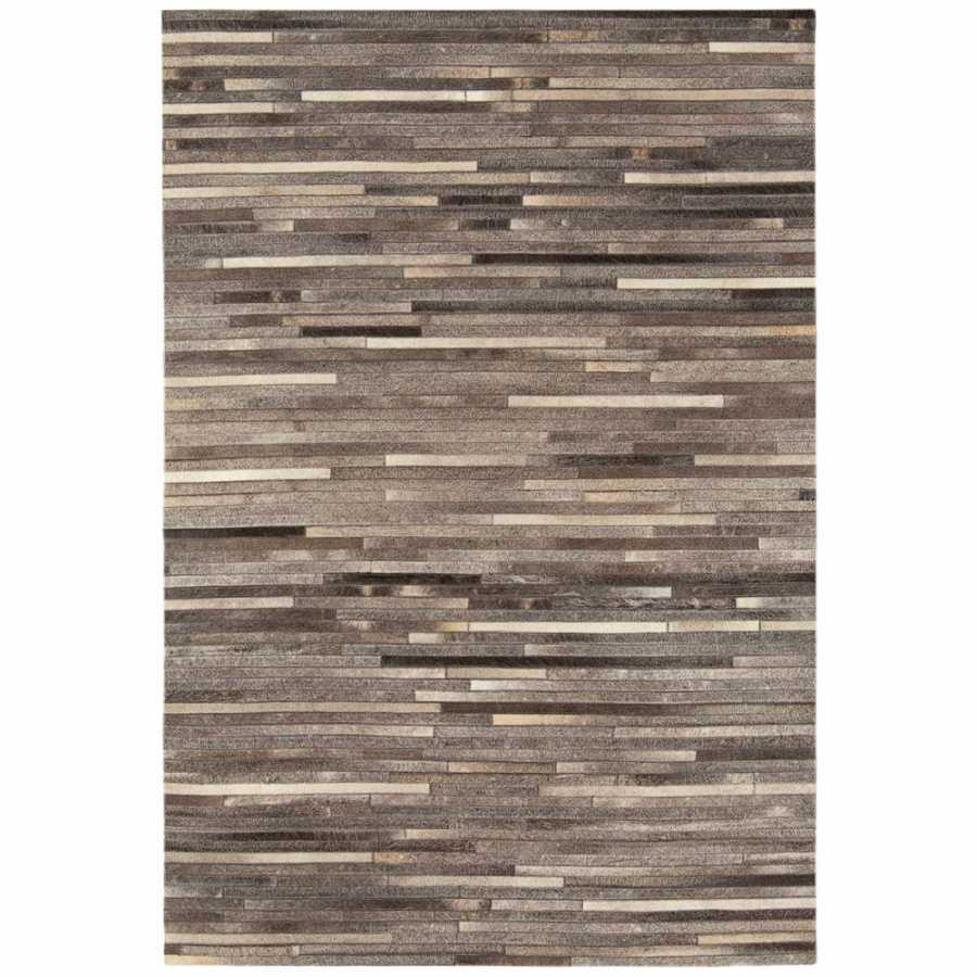 Asiatic London Gaucho Stripe Rug - Dark Grey