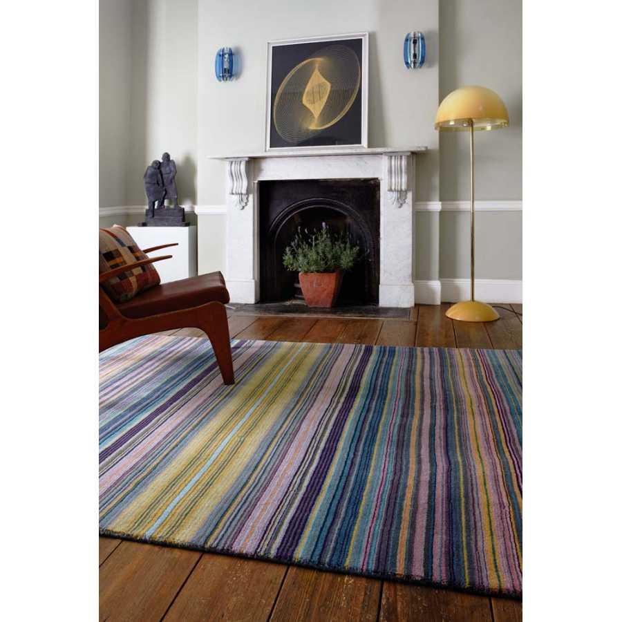 Asiatic London Pimlico Fine Stripe Rug - Blue