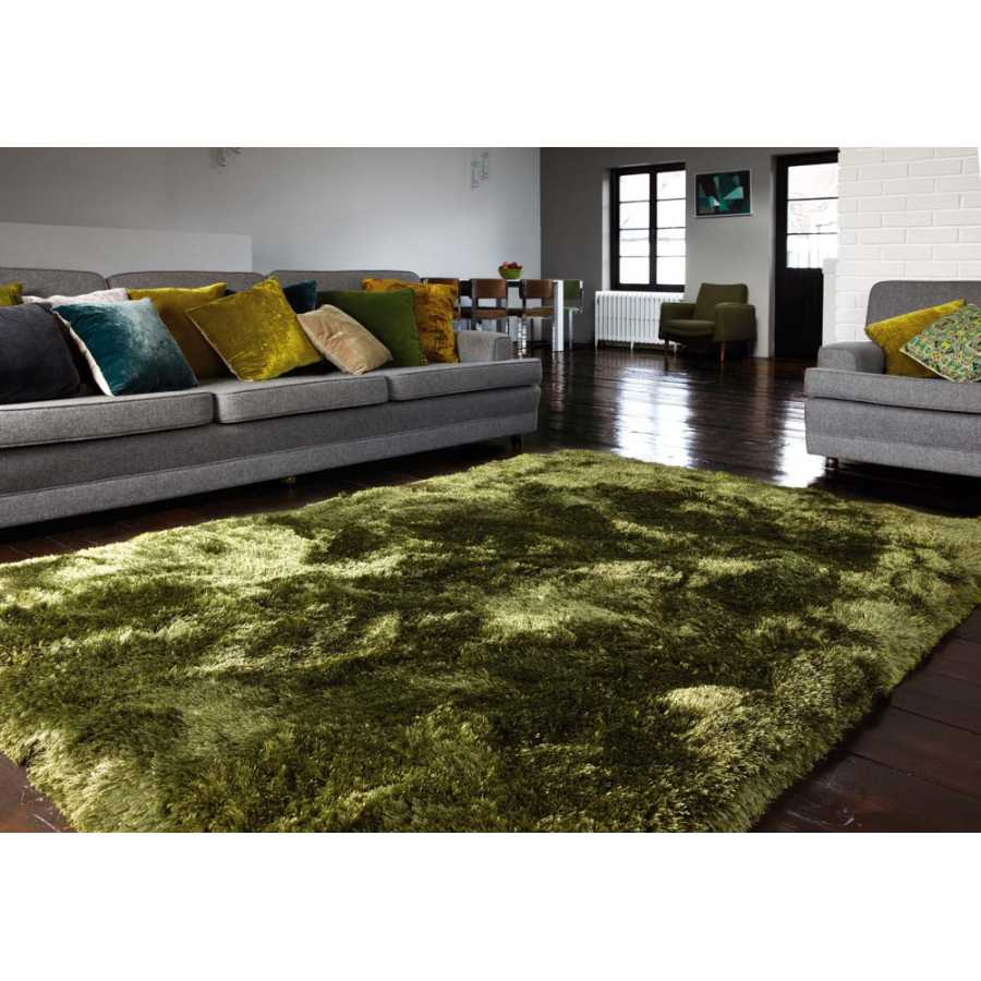 Asiatic London Plush Shaggy Rug - Green