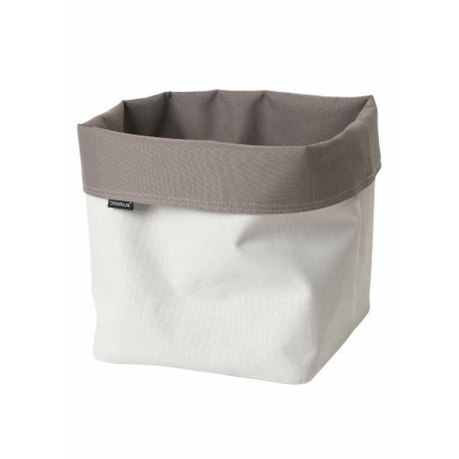 Blomus Ara Reversible Square Storage Basket - Sand & Taupe