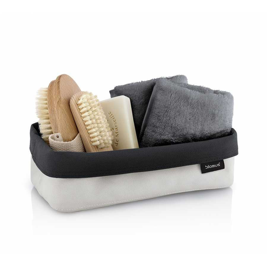Blomus Ara Reversible Storage Basket - Sand & Anthracite