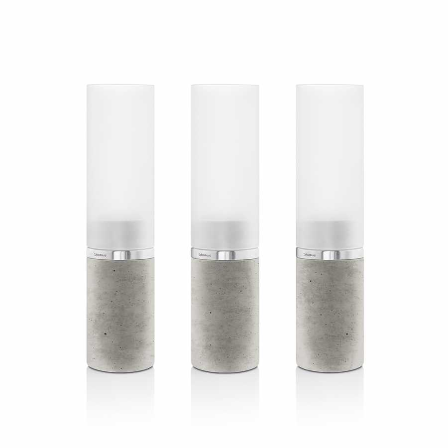 Blomus Faro Concrete Tealight Holders - Set of 3