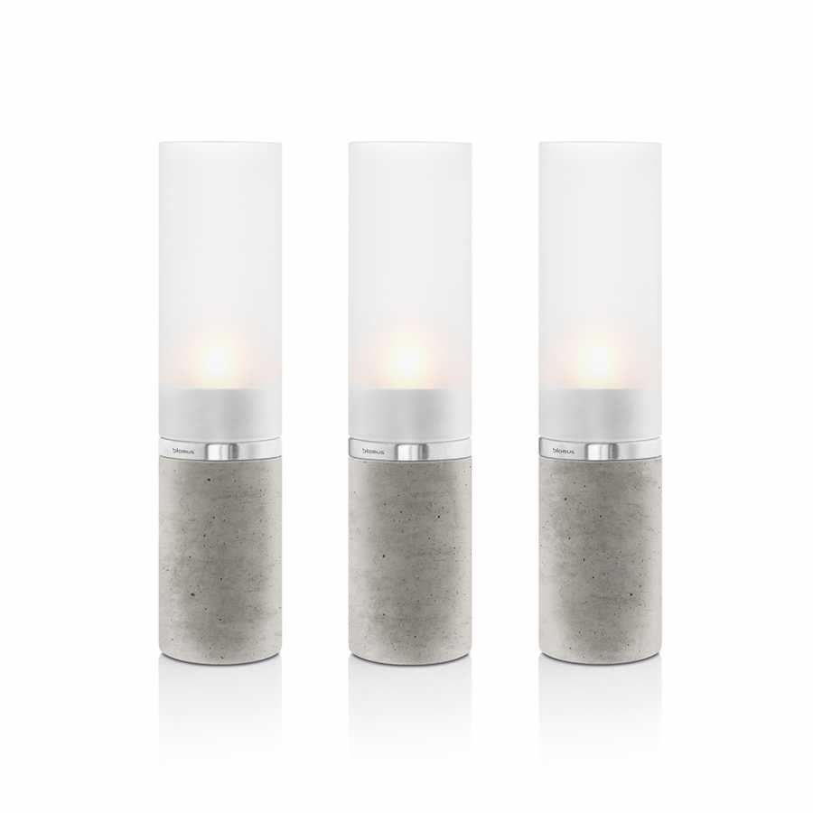 Faro Concrete Tealight Holders - Set of 3