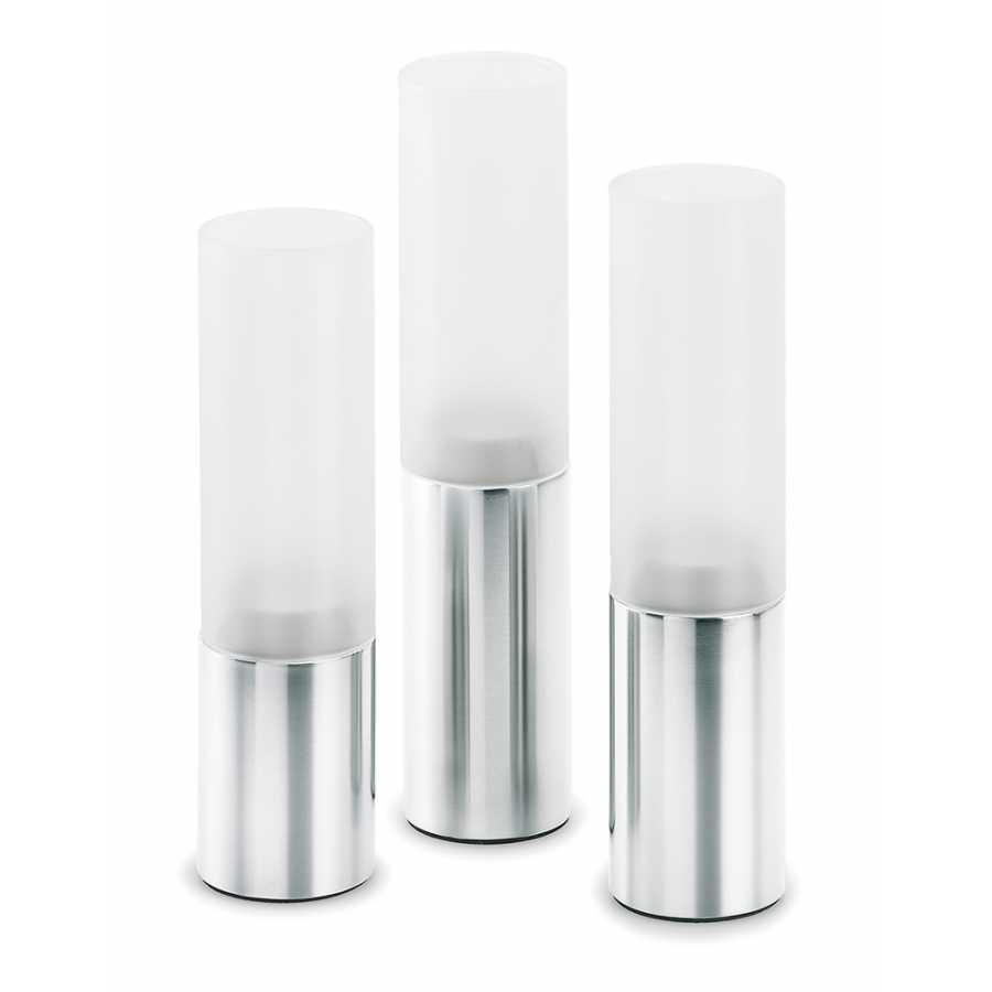 Blomus Faro Tealight Holder - Set of 3 - Matt Stainless Steel