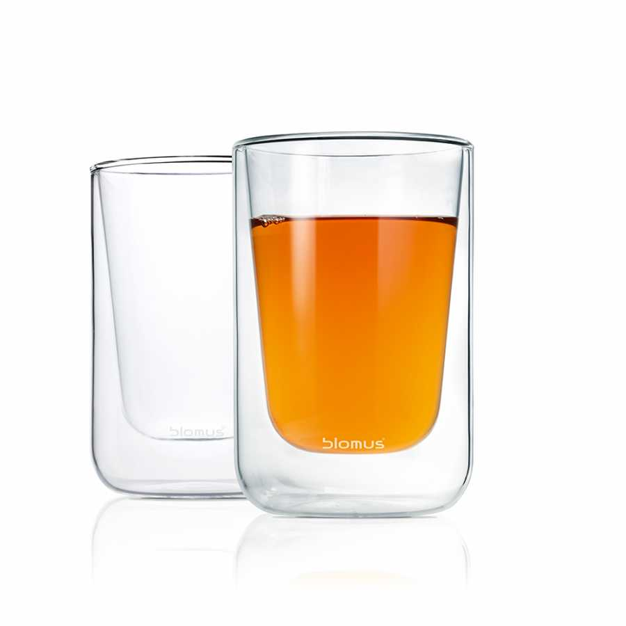 Blomus Nero Thermo Cappuccino Glasses - Set of 2