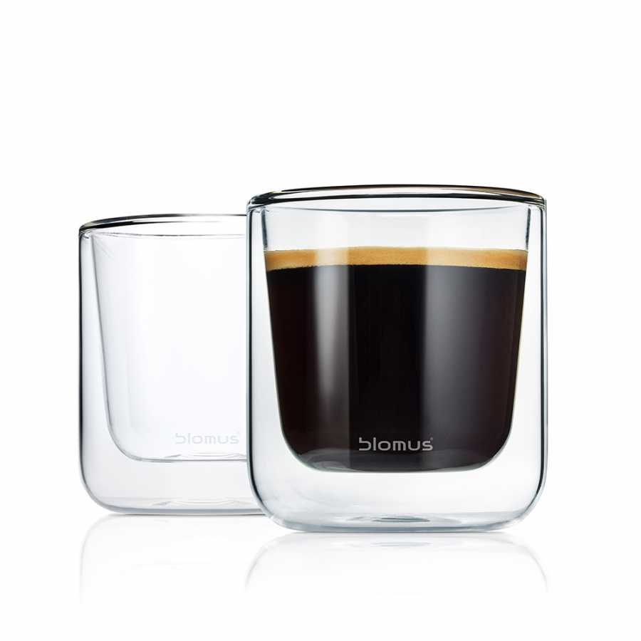 Blomus Nero Thermo Coffee Glasses - Set of 2