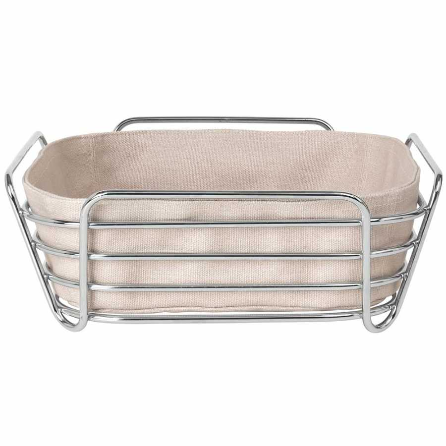 Blomus Delara Square Bread Basket - Rose Dust - Large