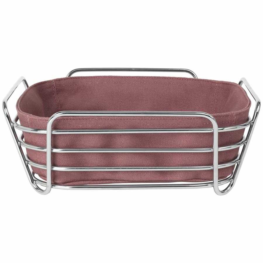 Blomus Delara Square Bread Basket - Withered Rose - Large