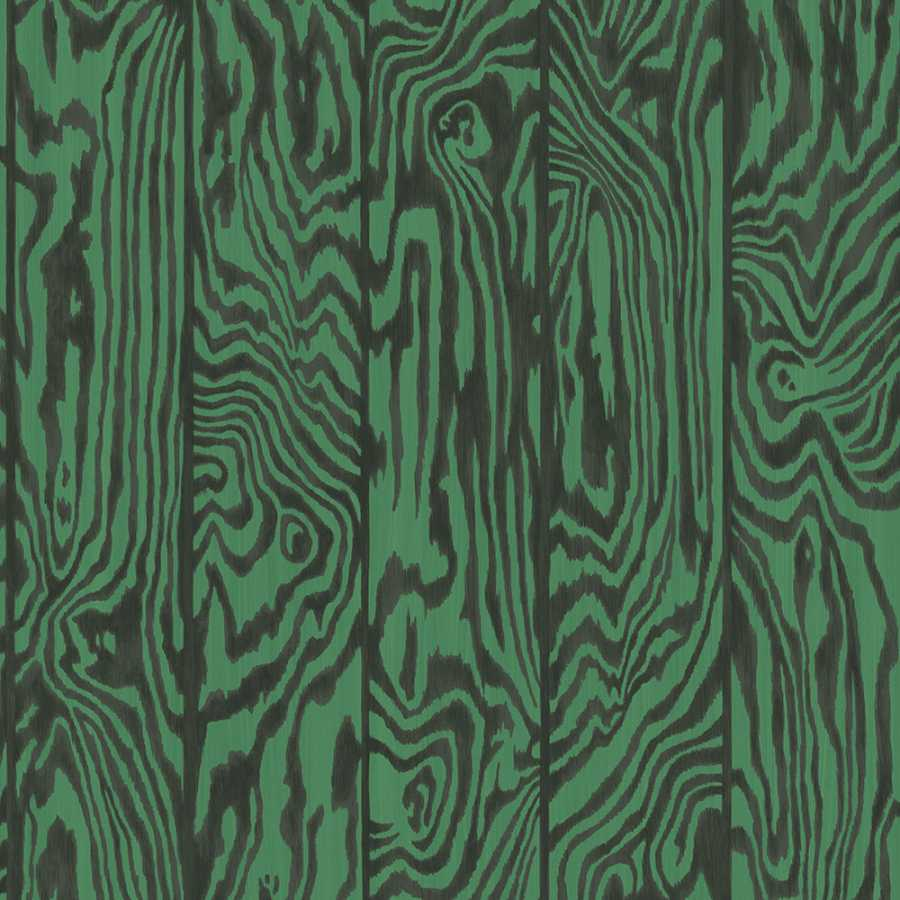 Cole & Son Curio Zebrawood 107/1001 Wallpaper - Green and Black