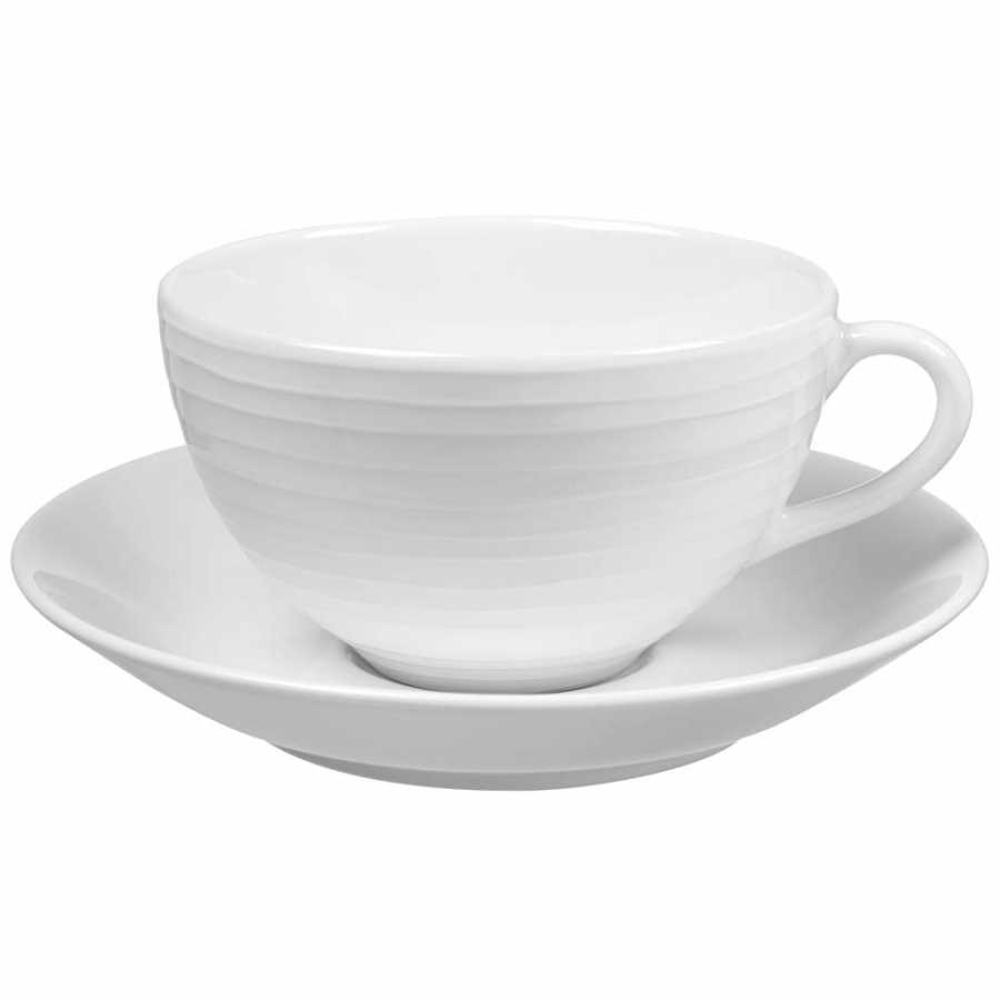 Design House Stockholm Blond Stripe Cups With Saucers - Standard