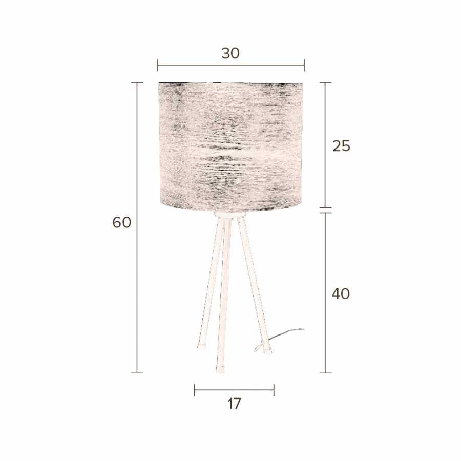 Dutchbone Woodland Table Lamp - Sizes in cm