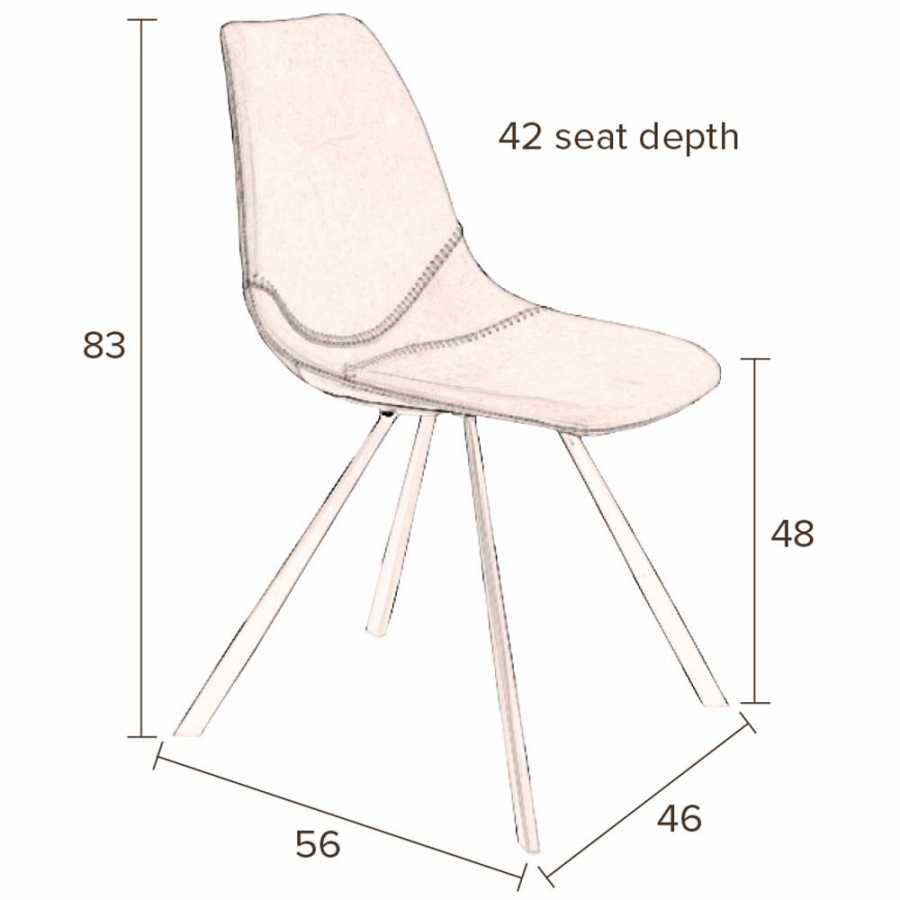 Dutchbone Franky Chairs - Sizes in cm