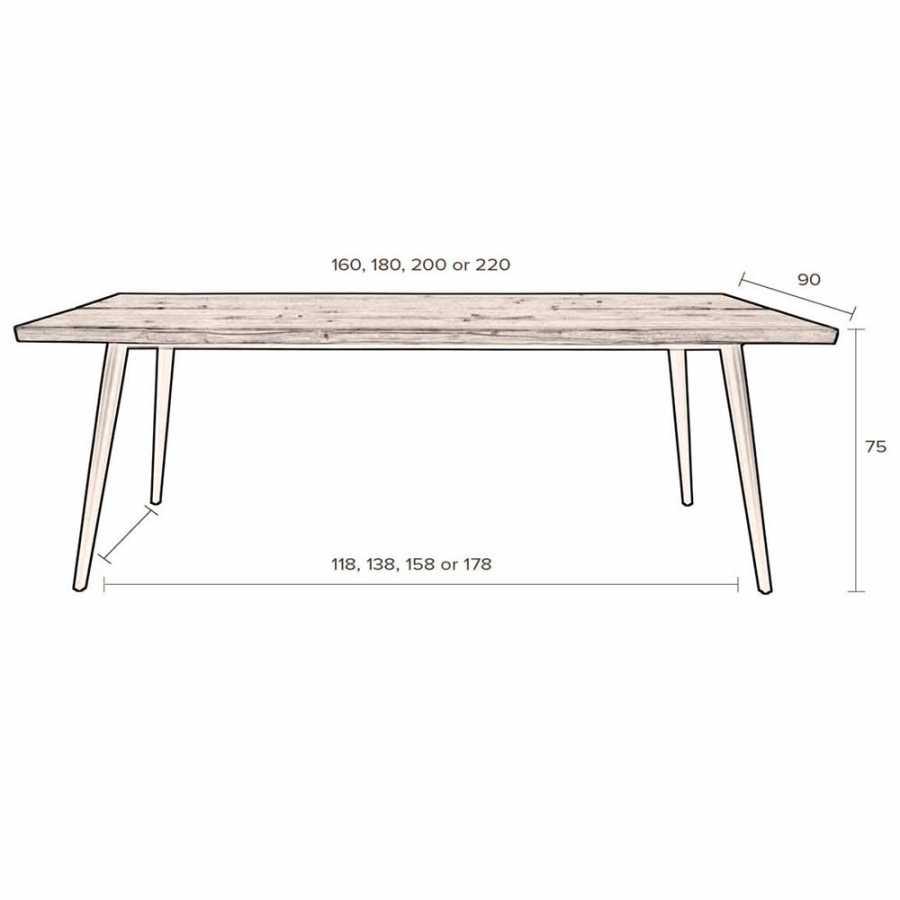 Dutchbone Alagon Dining Tables - Sizes in cm