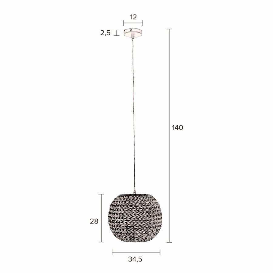 Dutchbone Nana Pendant - Sizes in cm