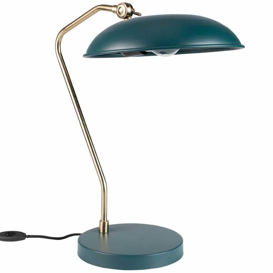 Dutchbone Liam Table Lamp - Teal