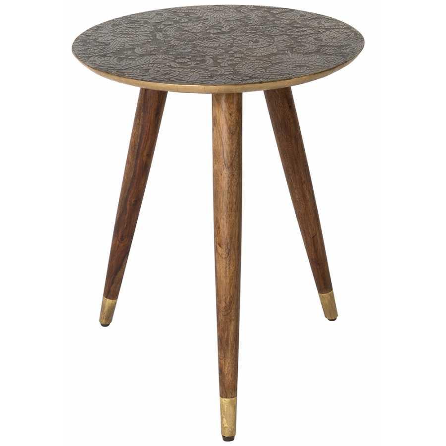 Dutchbone Bast Side Table - Brass