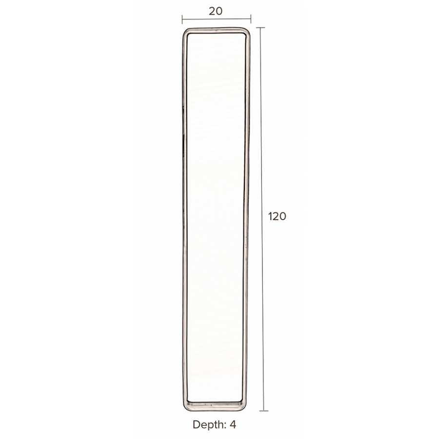 Dutchbone Blackbeam Mirror - Sizes in cm