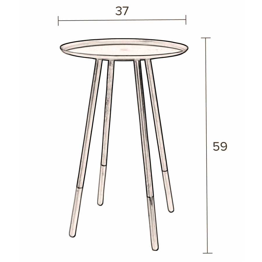 Dutchbone Elia Side Table - Sizes in cm