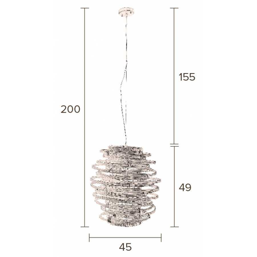 Dutchbone Kubu Pendant Light - Sizes in cm