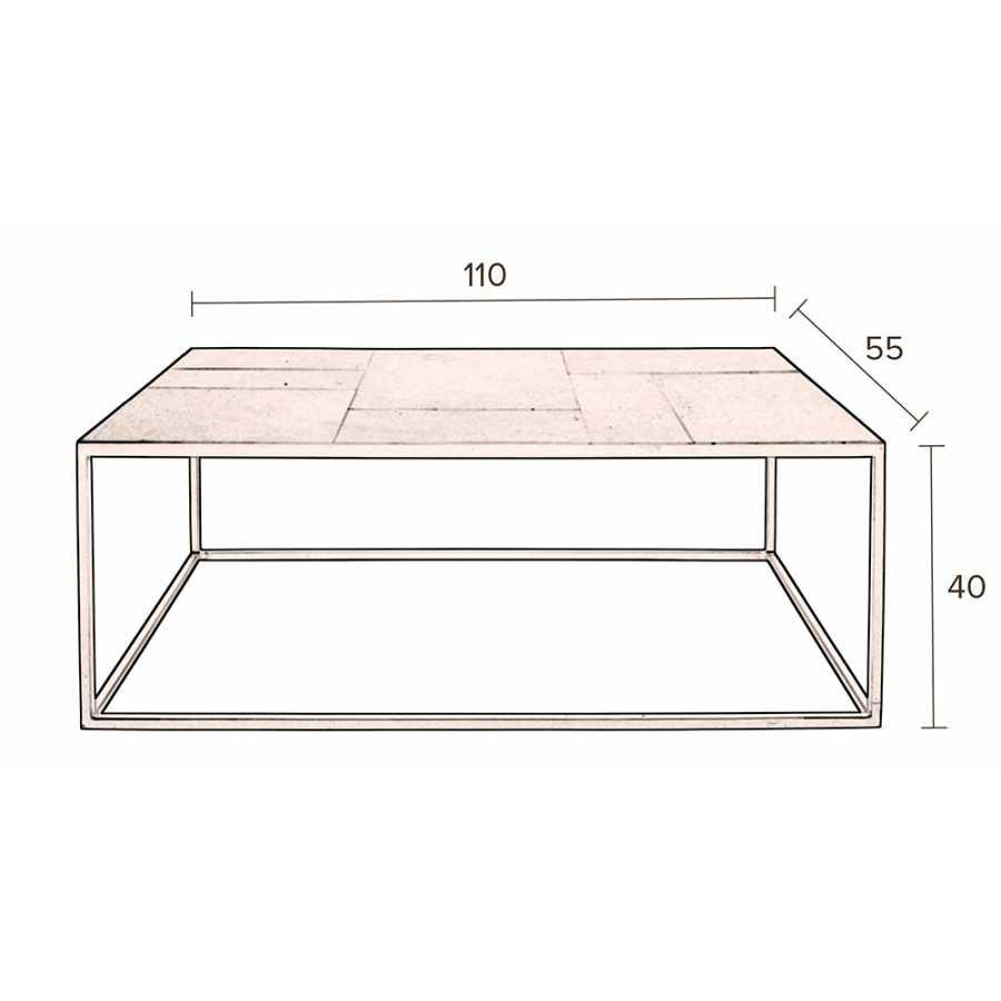 Dutchbone Lee Coffee Table - Sizes in cm