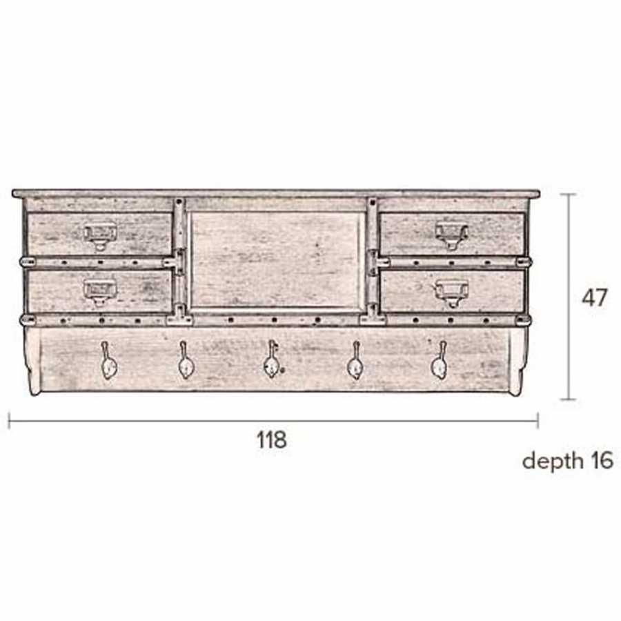 Dutchbone Amador Coat Rack - Sizes in cm
