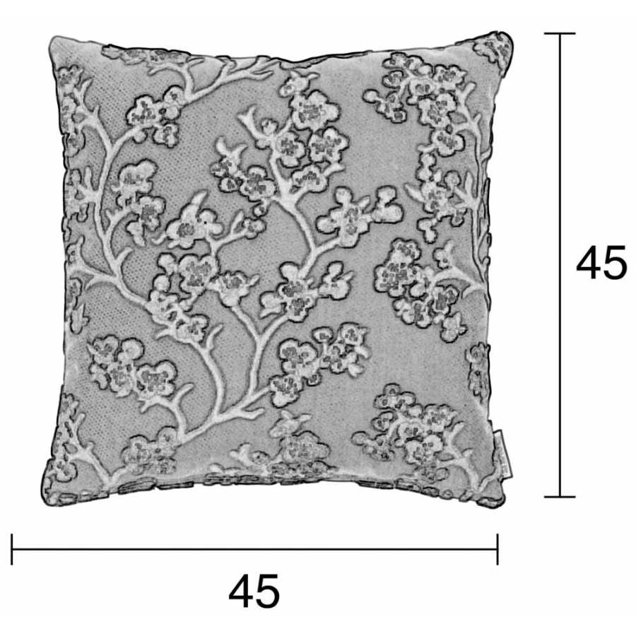 Zuiver April Cushion - Frost - Diagram