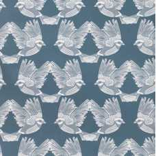 Ferm Living Birds Wallpaper - Dark Green / Off-White