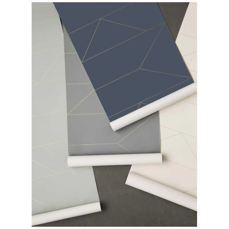 Ferm Living Lines Wallpaper - Dark Blue