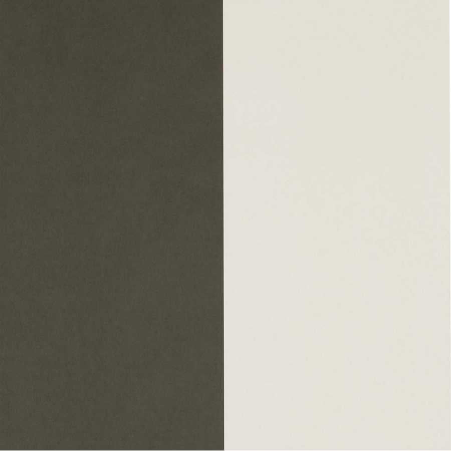 Ferm Living Thick Lines Wallpaper - Green And Off-White