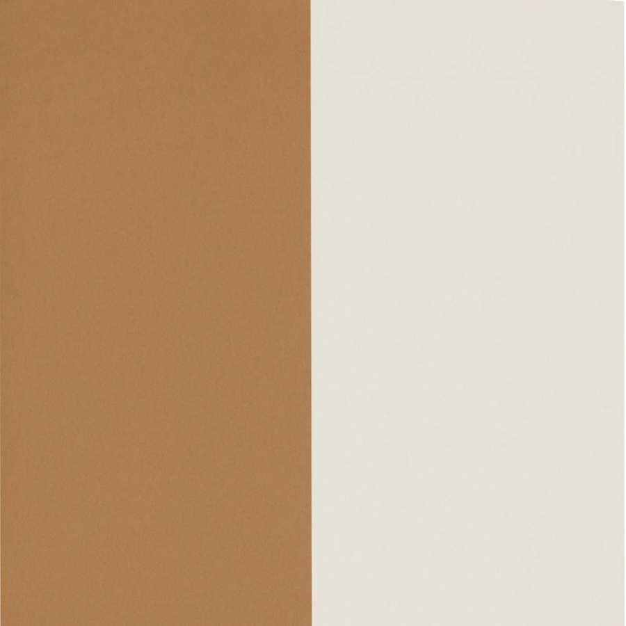 Ferm Living Thick Lines Wallpaper - Mustard And Off-White
