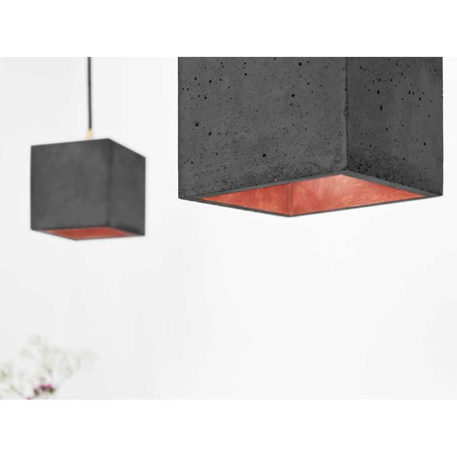GANT Lights B1 Dark Grey Concrete Pendant Light - Copper