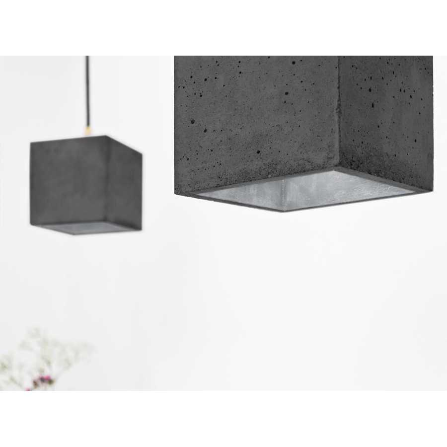 GANT Lights B1 Dark Grey Concrete Pendant Light - Silver