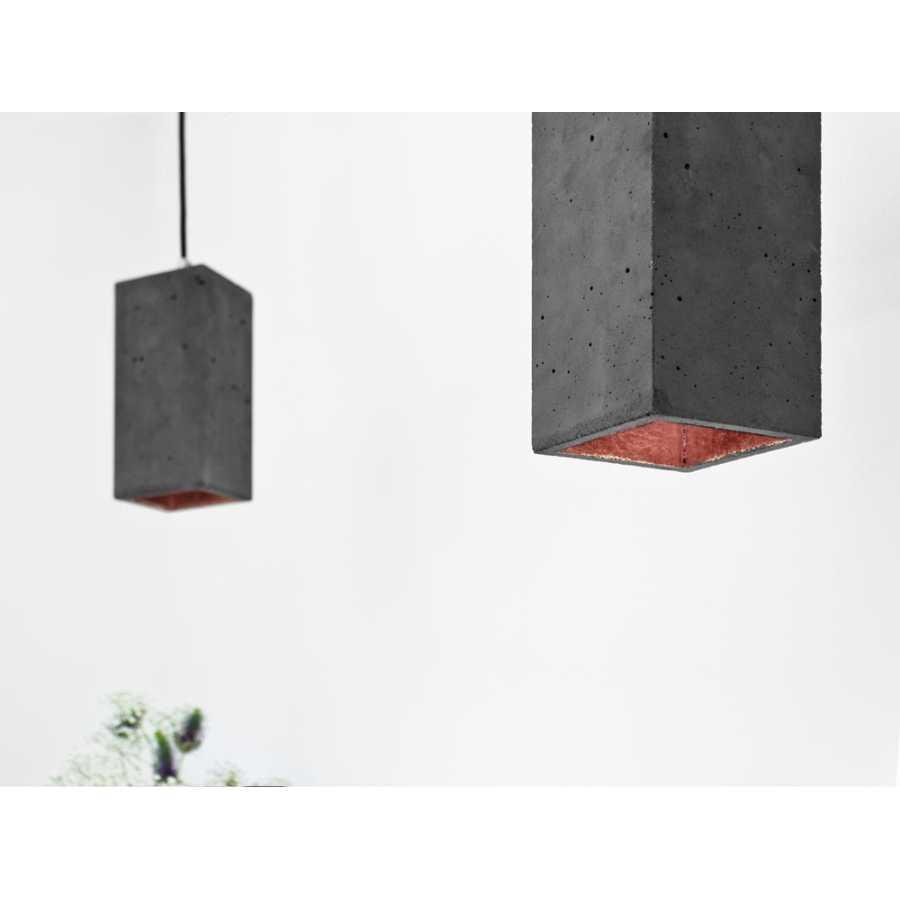 GANT Lights B2 Dark Grey Concrete Pendant Light - Copper