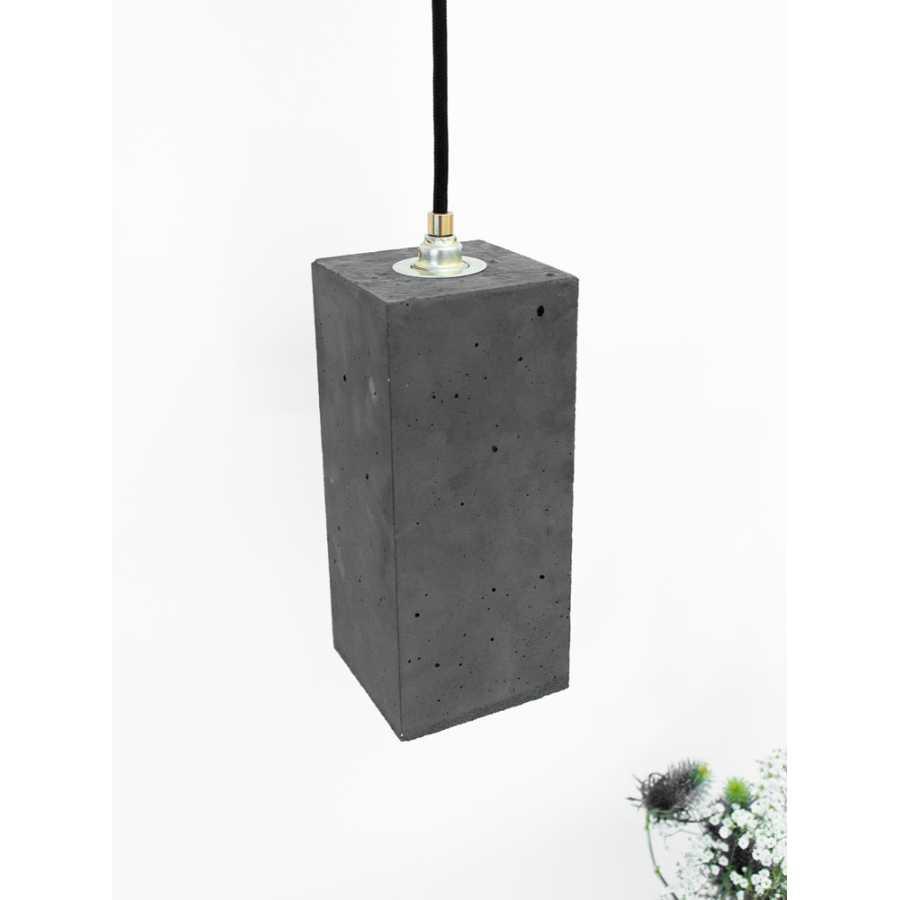 GANT Lights B2 Dark Grey Concrete Pendant Light