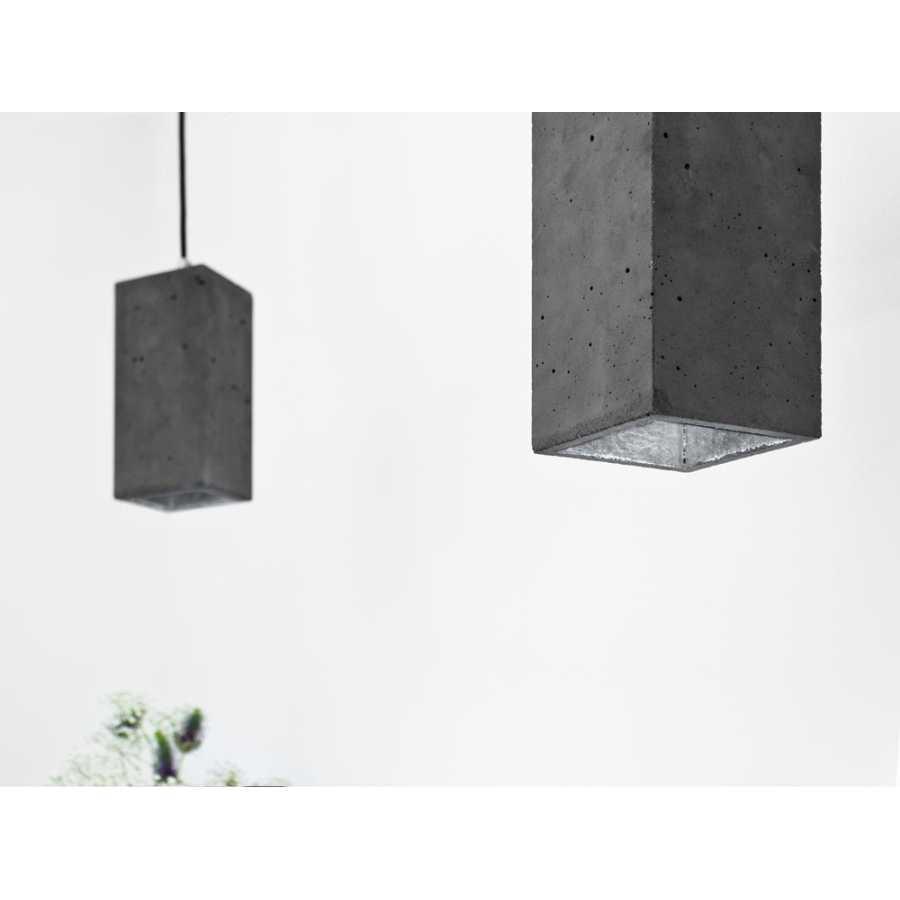 GANT Lights B2 Dark Grey Concrete Pendant Light - Silver