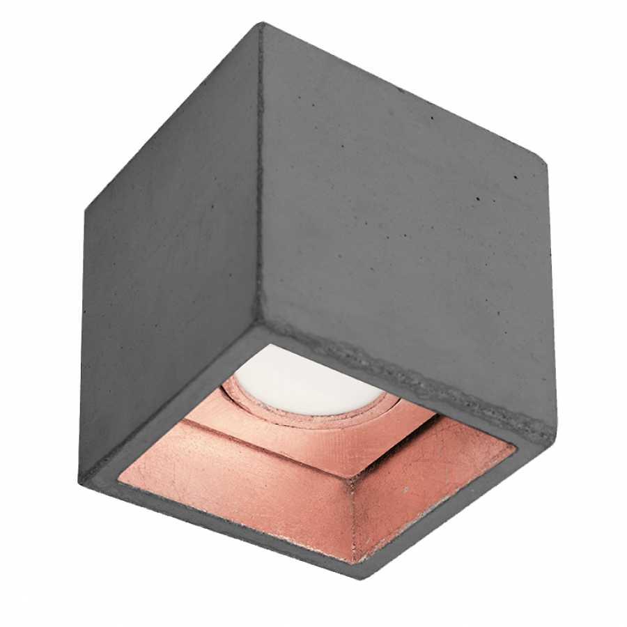 GANT Lights B7 Dark Grey Concrete Spot Light - Copper