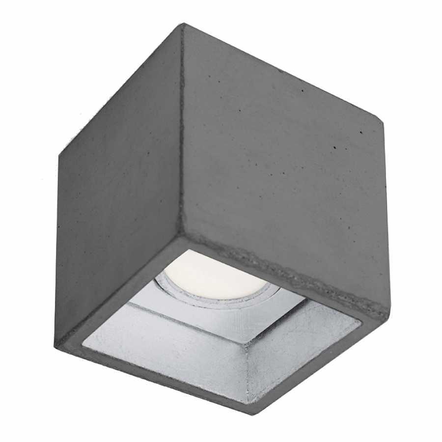 GANT Lights B7 Dark Grey Concrete Spot Light - Silver