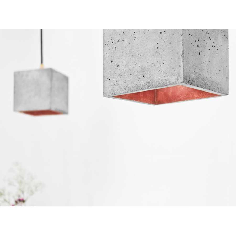 GANT Lights B1 Light Grey Concrete Pendant Light - Copper